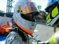 Rubens Barrichello całuje kamerę Monza 2009