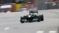 Kovalainen obraca bolid - Q1 - GP Monako 2010
