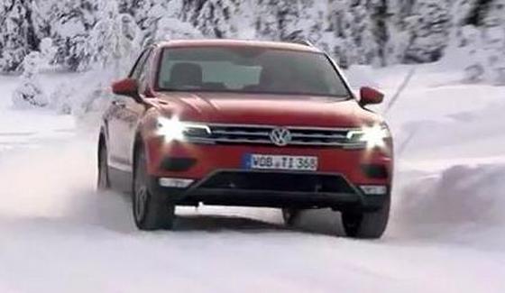 Volkswagen Tiguan - nowy model na �niegu