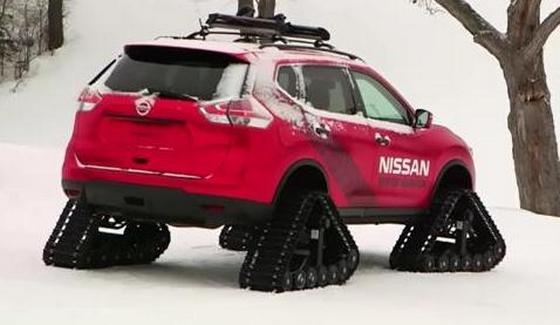 Nissan Winter Warrior - przeja�d�ka g�sienicowym SUVem