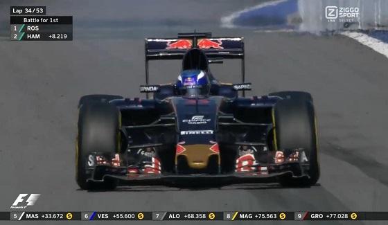GP Rosji 2016 - awaria Verstappena