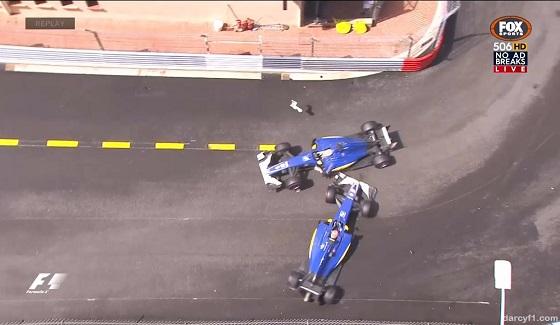 GP Monako 2016 - kolizja Ericssona i Nasra