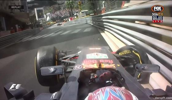 GP Monako 2016 - wypadek Verstappena