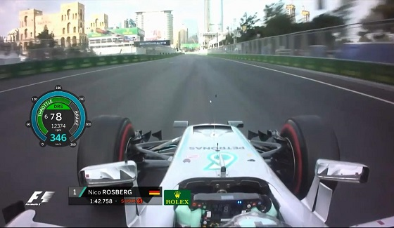 GP Europy 2016 - pole position Rosberga